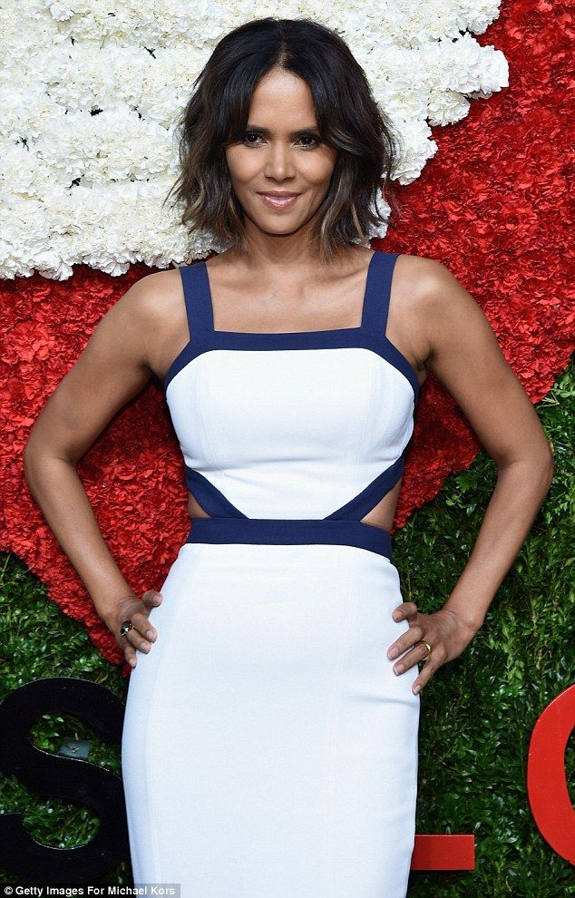 Parisian style: Halle Berry Oscar-winning actress, pictured at the Golden Hear Awards in N...