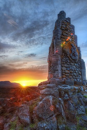 Sunrise in Iceland.