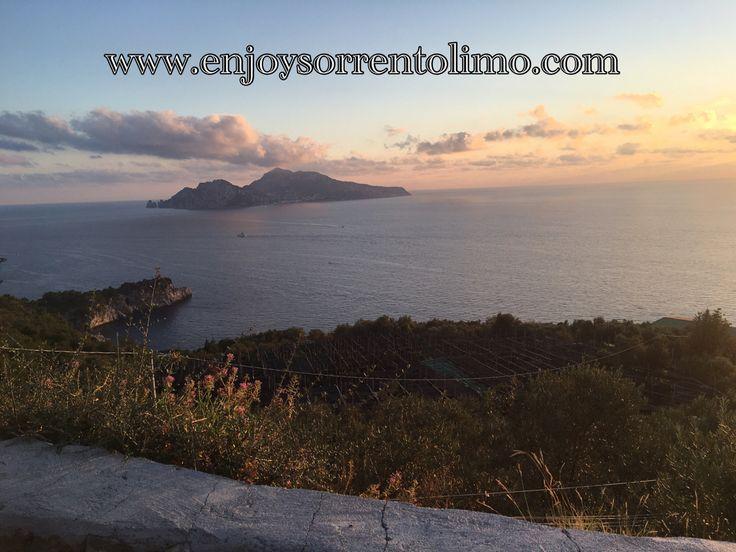 View Capri From Massa Lubrense (Sorrento Coast)  - Enjoy Your Time with our Tour - www.enjoysorrentolimo.com - Private Day Tour From Sorrento - Private Transfer From/To Naples Airport #enjoysorrento #enjoysorrentolimo #sorrento #amalfi #positano #amalficoast #daytour