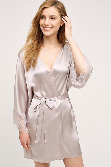 Eloise Laced Silk Robe
