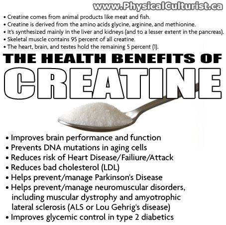 HEALTH BENEFITS OF CREATINE.