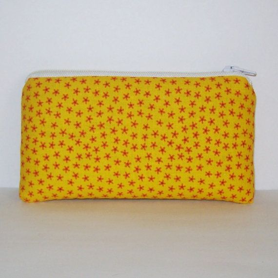 Pipe Pouch Yellow Pipe Case Pipe Bag Orange Flowers Pouch by PouchAPalooza.com