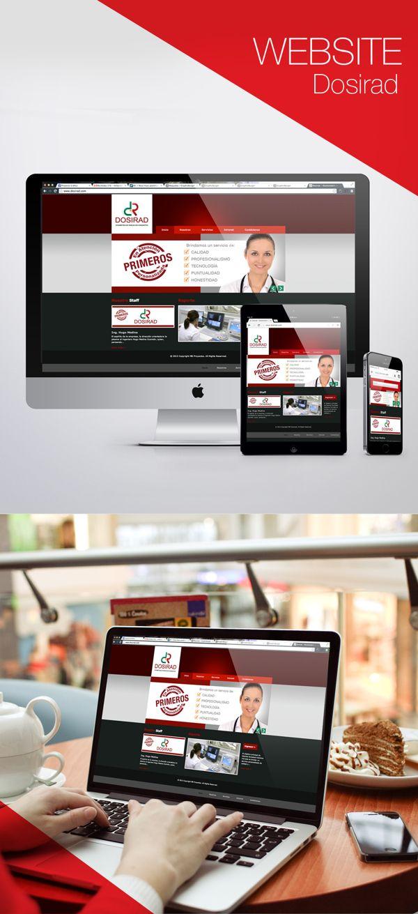 WEBSITE DOSIRAD por MB Proyectos, a través de Behance