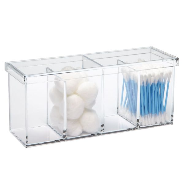 Acrylic 4Section Box  Shops Acrylics And The O'jays Alluring Bathroom Storage Containers Design Inspiration