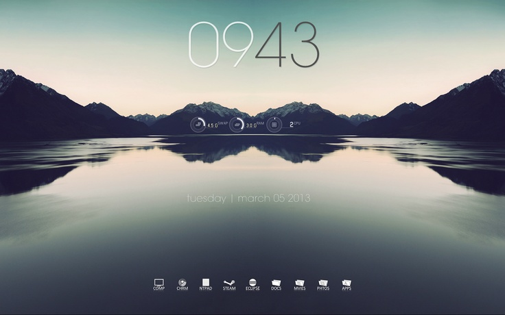 Windows Seven Desktop (rainmeter+rocketdock) | A Random Package