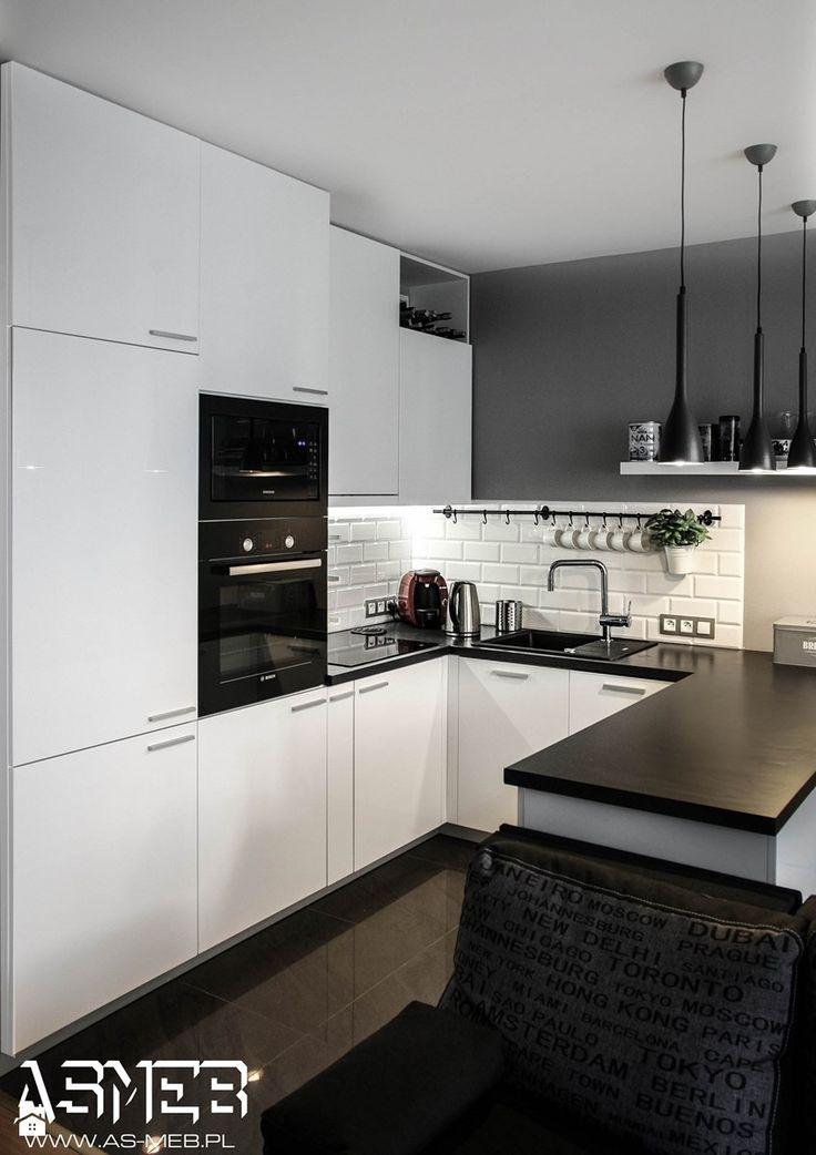 Aranżacje wnętrz - Kuchnia: Kuchnia styl Skandynawski - AS-MEB producent kuchni i mebli. Przeglądaj, dodawaj i zapisuj najlepsze zdjęcia, pomysły i inspiracje designerskie. W bazie mamy już prawie milion fotografii!