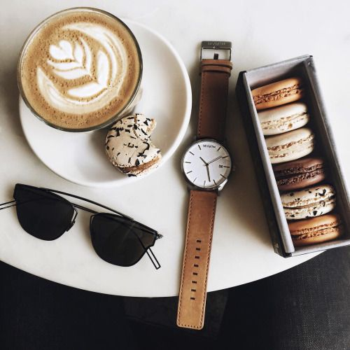 coffee and macarons, ooh la la!