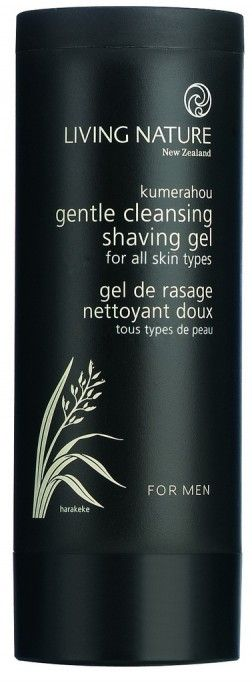 Living Nature Gentle Cleansing Shave Gel: A gentle, non-drying gel that provides excellent razor slip for a smooth, close shave. Specially formulated for mens skin.