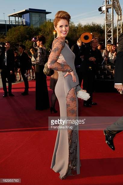 Mareile Hoeppner attends the Deutscher Fernsehpreis 2013 Red Carpet Arrivals at Coloneum on October 02 2013 in Cologne Germany