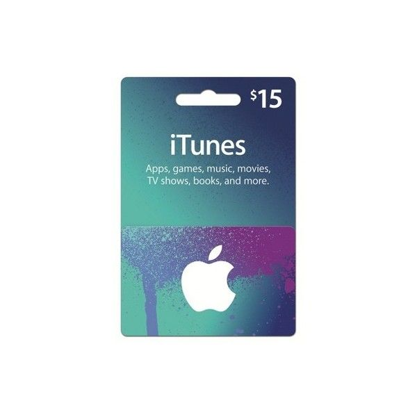 $15 iTunes Gift Card ($15) ❤ liked on Polyvore featuring gift cards, extra, fillers, accessories and gifts