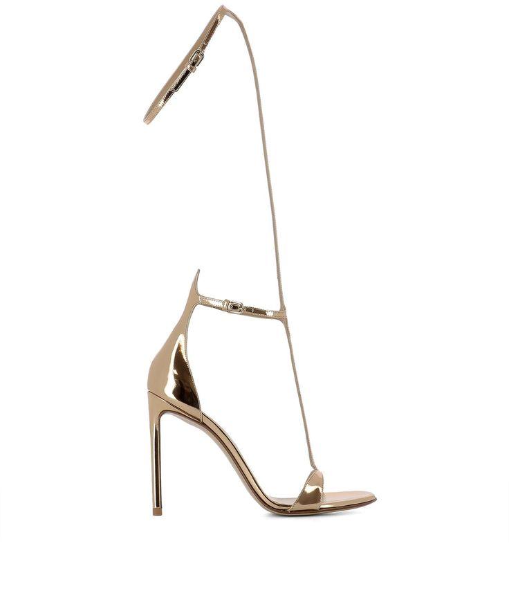 FRANCESCO RUSSO | Francesco Russo Gold Leather Sandals #Shoes #FRANCESCO RUSSO