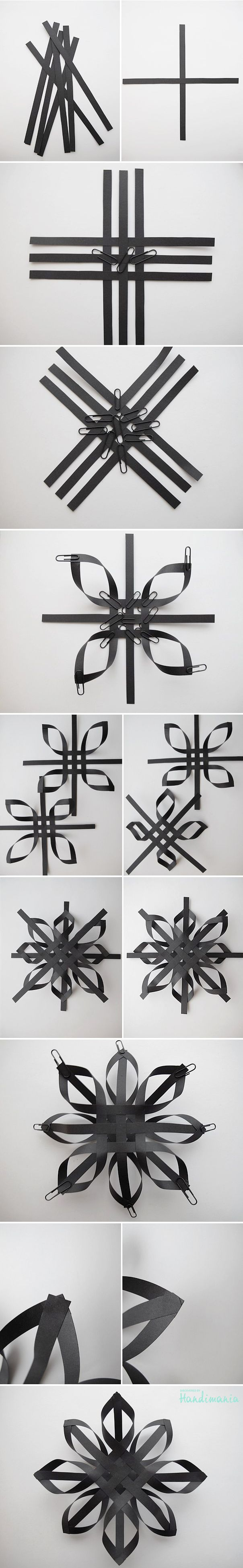 Black paper snowflakes for the walls?