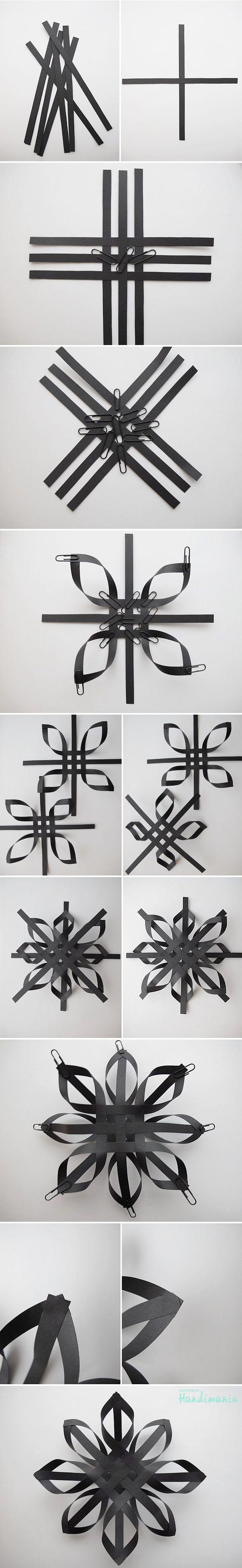 Black Paper Snowflake