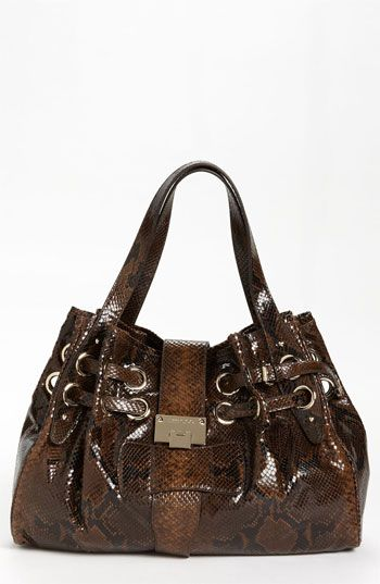 Jimmy Choo Ramona Snake Embossed Leather Shopper, Large available at