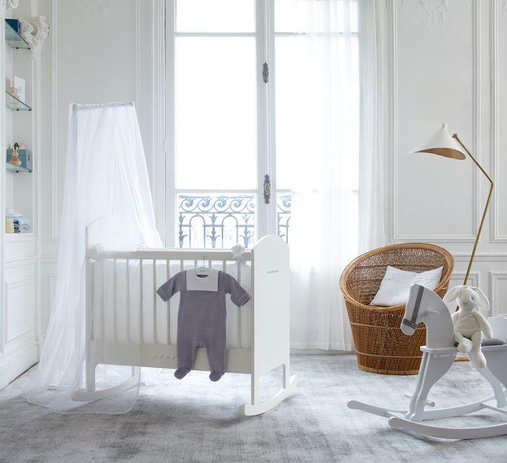 La chambre de bébé selon Jacadi #bebe #chambrebebe #litbebe # flechedelit