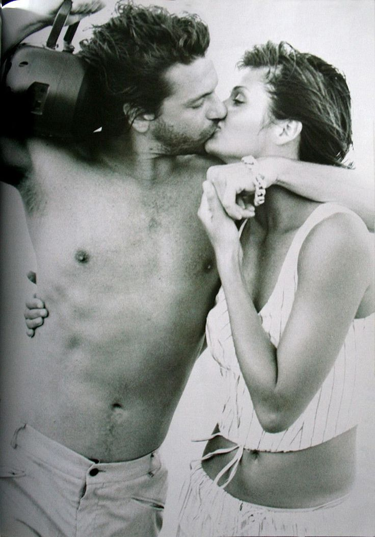 Michael Hutchence & Helena Christensen | Photography by Peter Lindbergh | 1994 #michaelhutchence #helenachristensen #peterlindbergh #1994
