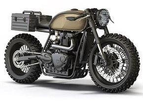 cafe racer, Desert Sled, Design, Inverted Forks, Motorbike Artwork, Triumph, doomsd…