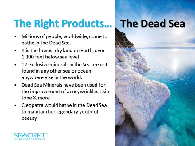 The dead sea minerals