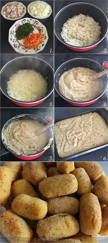 Croquetas de pollo, paso a paso #croquetas #croquetasdepollo #vanesasierra #misdeseosmasdulces #pasoapaso #spainfood #recetastradicionales