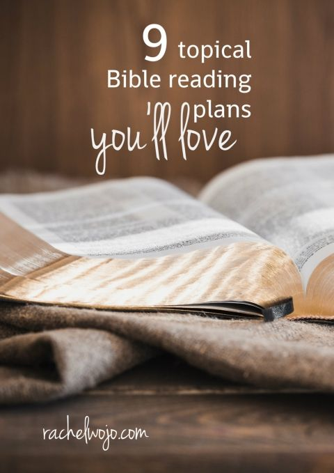 9 topical Bible reading plans you'll love. How do I know that you'll love them? Because so many folks already have! Each of these MONTHLY plans offer a graphic that you can either screenshot to your smartphone and save to your favorites for easy daily access. Or a download link is available via printable pdf. #biblereading