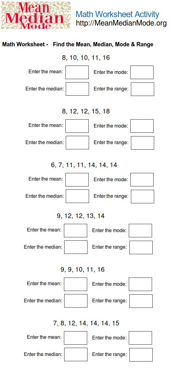 76 best math mean median mode range images on pinterest mean median mode worksheet ccuart Gallery