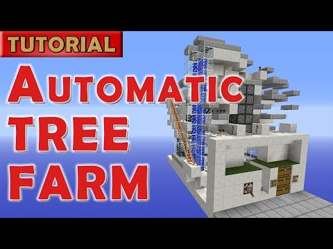 Minecraft 1.9 Automatic AFK Tree Farm - 1400 logs/hour - NO Wither! - YouTube