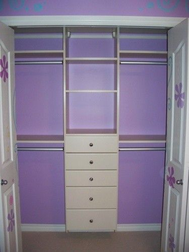 kid closet, what we want the inside of the girls' closet to look like. but no doors