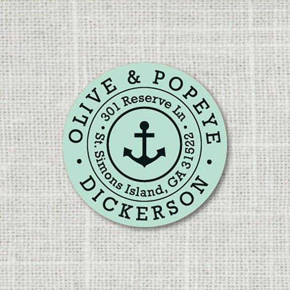 Custom Nautical Address Label Anchor Address Stickers Return