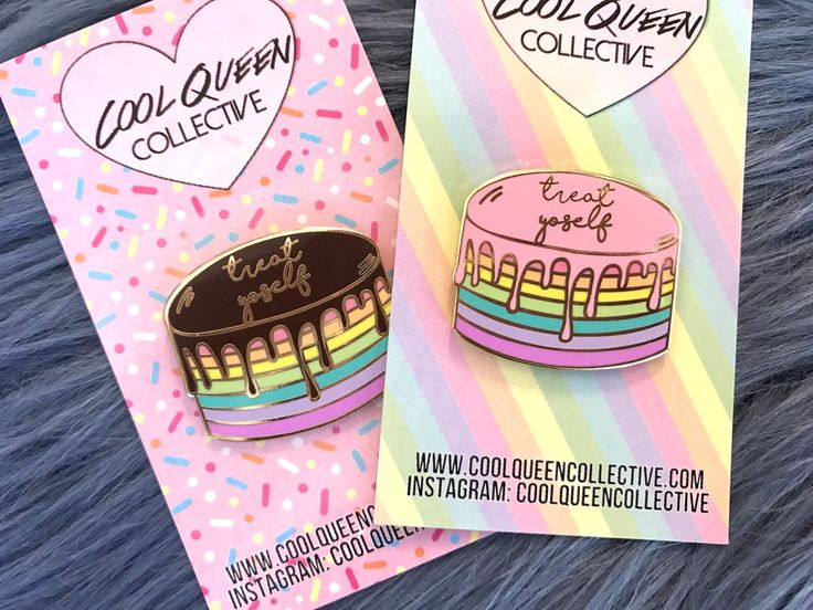 Cool Queen Collective — Treat Yoself Cake Enamel Pin - v. 2 (PASTEL)