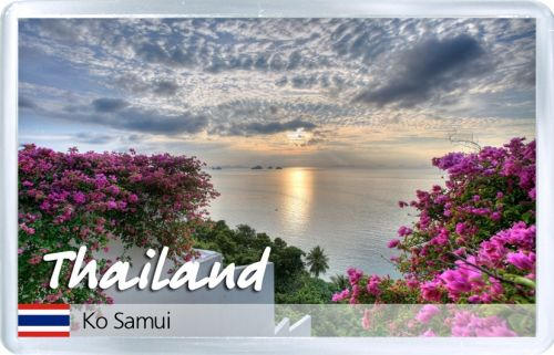 Acrylic Fridge Magnet: Thailand. Ko Samui Island