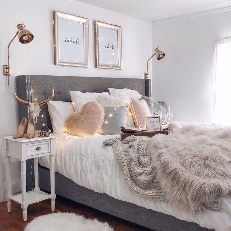 Dreamy Bedroom Look – Super Cosy. #roomideas #greybedroom #roomdecorideas #homedecor #home #lakesandhillsuk