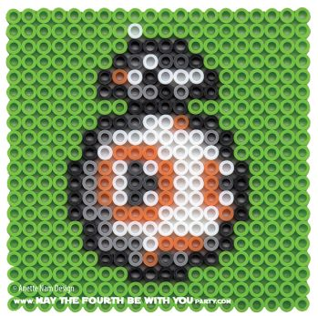 BB-8 Star Wars: The Force Awakens perler beads by May the 4th be with You Party Anette