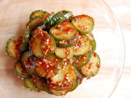 Kimchi-Style Cucumber Salad (오이 무침 - Oi Muchim)