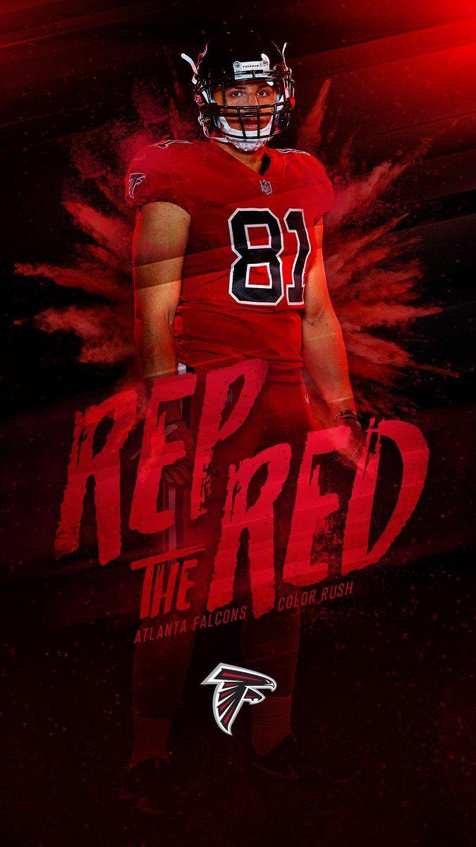 Rep The Red Colorrush Wallpaperwednesday Atlanta Falcons Color Rush Atlanta