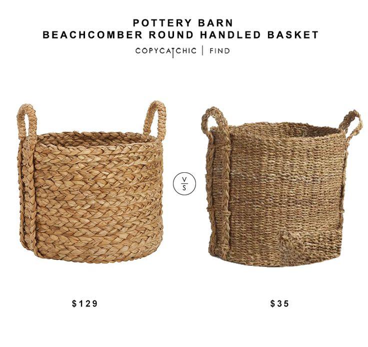 Pottery Barn Beachcomber Seagrass Basket 129 Vs World