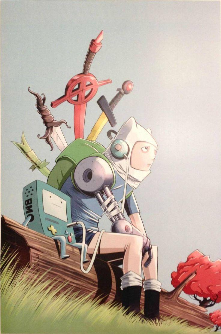 Adventure Time. Finn & BMO