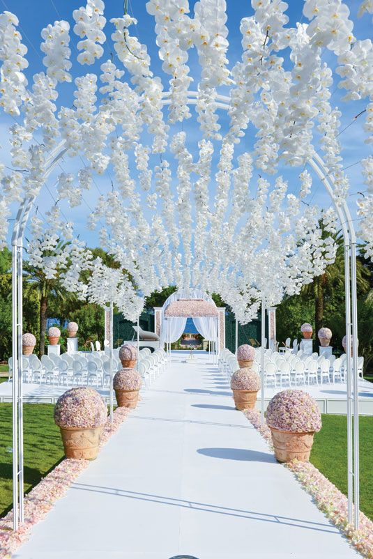 Wedding flower idea: orchid canopy