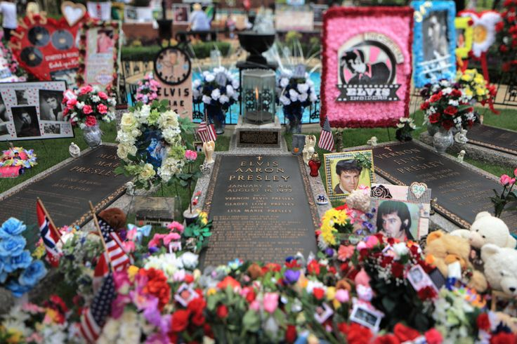 Grave of Elvis Presley- Memphis, USA The meditation garden at Graceland was a place of solace for Elvis Presley during his lifetime. It is now his final resting place, alongside his father, Vernon,...
