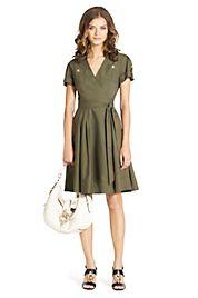 Kaley Cotton Wrap Dress | Dresses by DVF