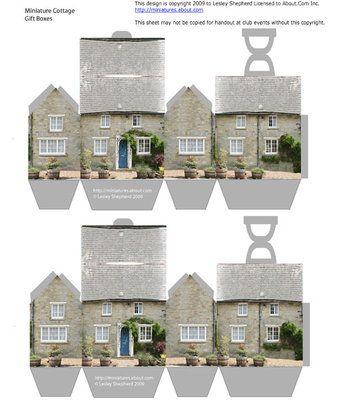 Free printable sheet of stone cottage boxes