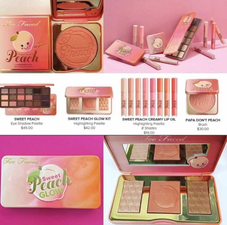 UPDATE We have Pricing for the Too Faced Sweet Peach Collection!! •Sweet Peach Glow Kit $42 •Sweet Peach Palette $49 •Sweet Peach Creamy Lip Oil- 8 different shades $19 •Papa Don't Peach Blush $30 Will be AVAILABLE online at Sephora December 15th,...