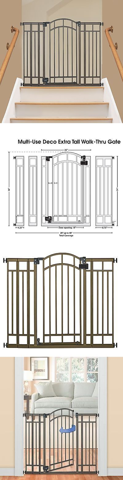 Safety Gates 117029: Extra Tall Walk Thru Safety Gate Pet Dog Toddler Baby Child Stairs Through Wide -> BUY IT NOW ONLY: $57.89 on eBay!