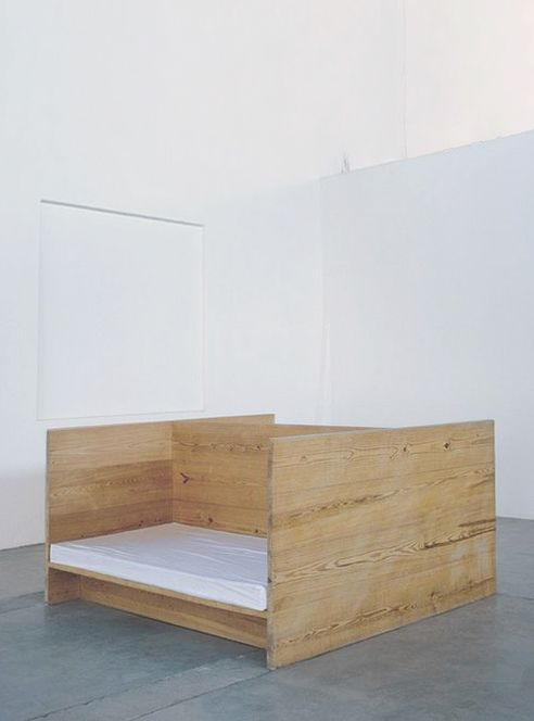 Donald Judd, Double Day bed. The Arena, CHINATI.
