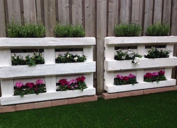 Die besten 25+ Paletten Blumenkasten Ideen auf Pinterest - gartenbank aus paletten selber bauen