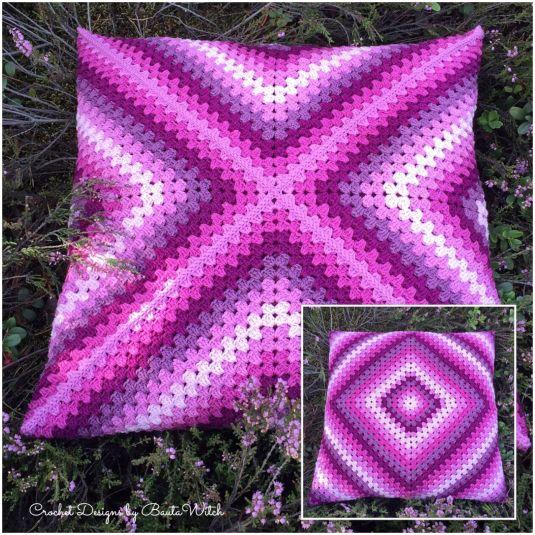 Garnkit till denna romantisk kudde o gratis mönster hittar du hos http://BautaWitch.com