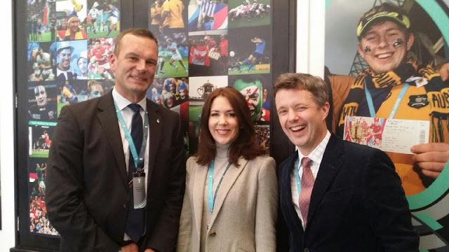Royals & Fashion -  Prince Frederik and Princess Mary attended the final of the world cup of rugby between Australia and New Zealand, which was held at Twickenham Stadium in London. Unfortunately for Mary, New Zealand won the cup.