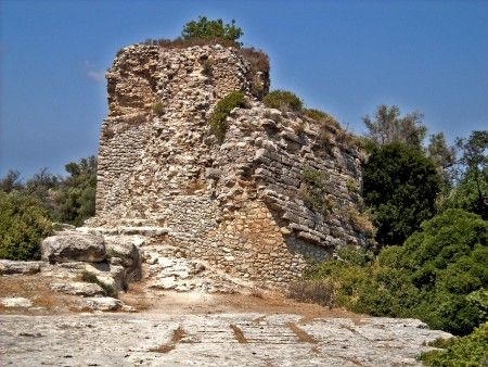Early Byzantine fortification, #Eleftherna Acropolis , central #Rethymno Prefecture , #archaeology