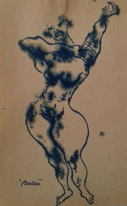 Armand Bouten - Prostituees van Amsterdam  Inkttekeningen op papier te dateren circa 1955. Gesigneerd met atelierstempel. Afmeting: 19x12 cm in goede staat.  EUR 17.00  Meer informatie