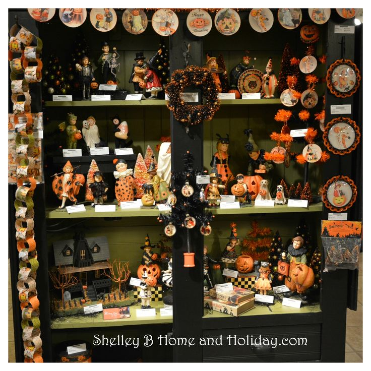 bethany lowe vintage and folk art inspired collectible decorations for christmas halloween easter and more available at shelley b home and holiday - Homes Decorated For Halloween