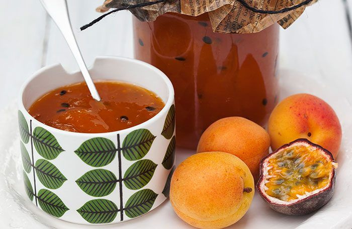 Aprikosmarmelad med passionsfrukt